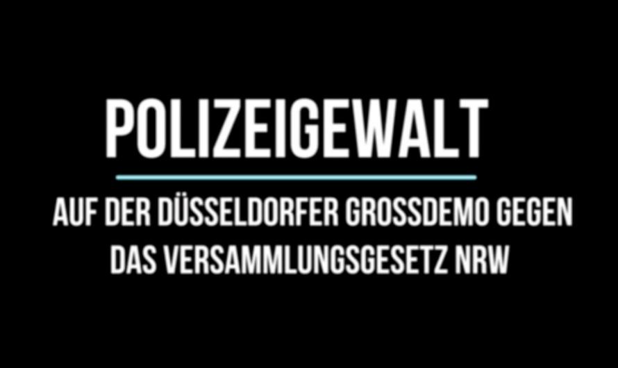 Polizeigewalt auf der Großdemonstration gegen das Versammlungsgesetz NRW