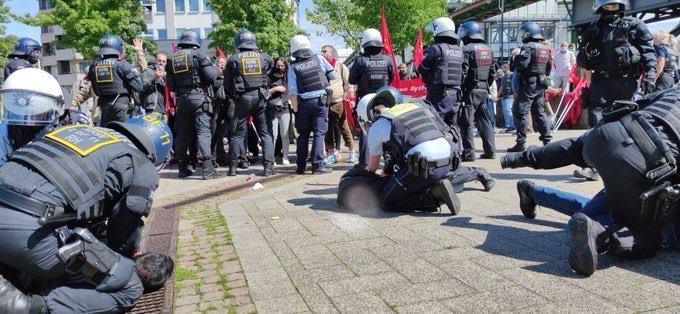Massive Polizeigewalt auf der Friedrich Engels Gedenkdemonstration – Ein ausführlicher Bericht